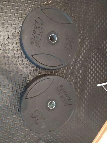 Olimpijskie Bumpery Apus 2 x 20kg 45cm 51