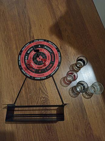 Gra alko rzutki dart magnetyczny + kieliszki