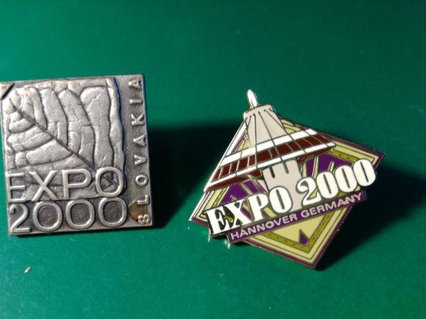 Znaczki metalowe : EXPO 2000 . Hannover , Slovakia