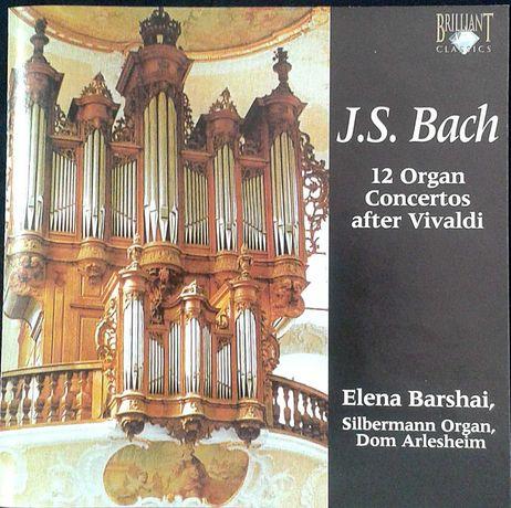 J. S. Bach. 12 Organ Concerts after Vivaldi. CD Duplo Elena Barshai