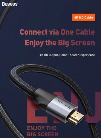 Cabo HDMI 2.0 Baseus, 4K 60HZ, 3 metros, Novo