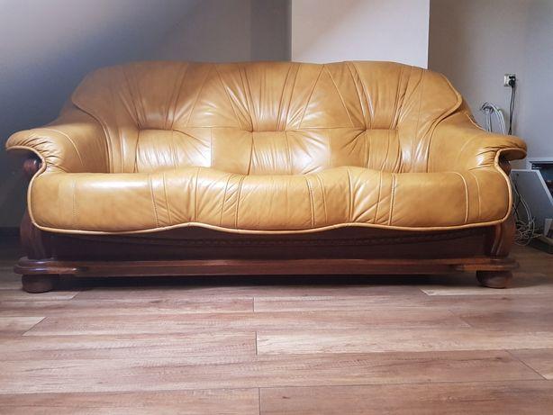 Kanapa skorzana +fotel
