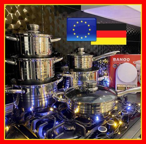 Набор кастрюль 18 предметов (Германия) + набор профессиональных ножей