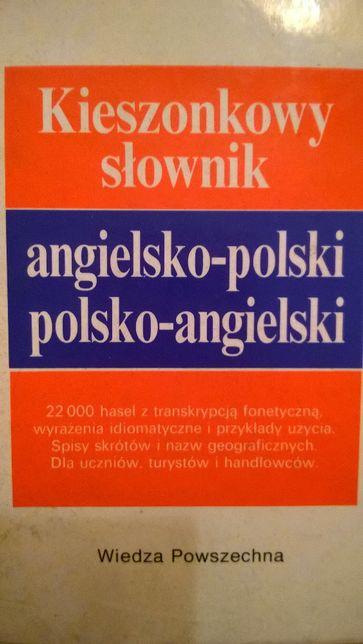 Kieszonkowy słownik angielsko polski Wiedza Powszechna