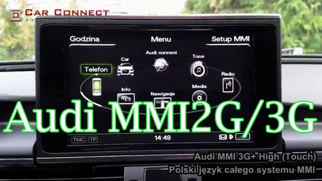 Menu język polski Nawigacja Audi MMI 3G HIGH BASIC MMI 2 Ford Sync 3
