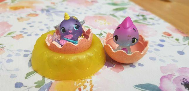 HATCHIMALS seria dwa jajka dwie figurki gniazdo