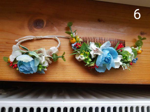 Grzebien i bransoletka na wesele