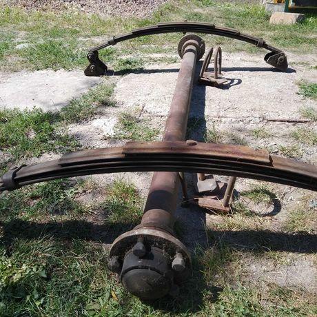 Ось со ступицами и рессоры для грузового прицепа УАЗ