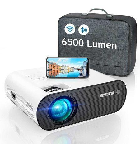 Projetor led 6500 lumens+WiFi+bluetooth+Mala de transporte/1080P
