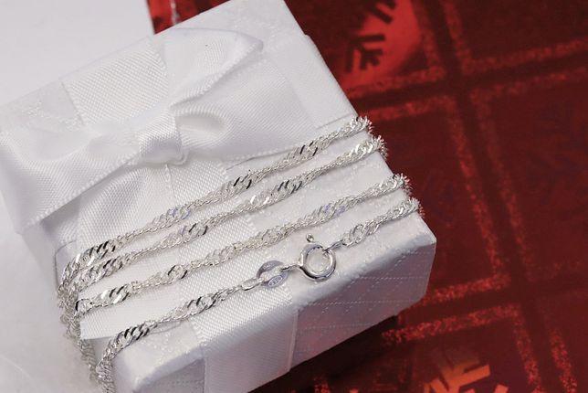 Srebrny łańcuszek singapur Jubiler Agapol