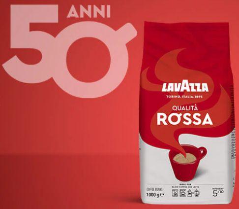 Lavazza Qualita Rossa, кофе с мягким вкусом в зернах 1 кг. Италия