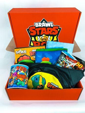 """Набор Brawl Stars Box Бравл Старс Бокс """"Мега Ящик бананка сумка мешок"""