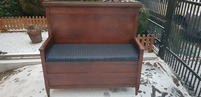 Skrzynia drewniana , siedzisko , kanapa stan BDB