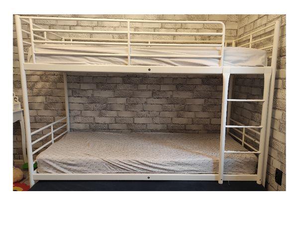 Łóżko piętrowe IKEA potrójne dostawka białe 3 osobowe