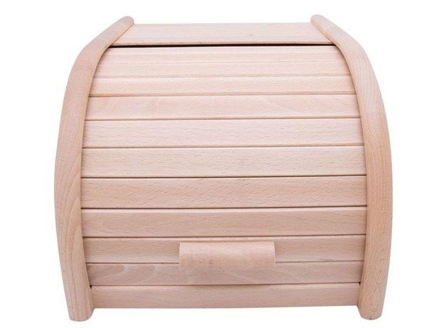Drewniany chlebak, pojemnik na pieczywo, 23x28x18cm,