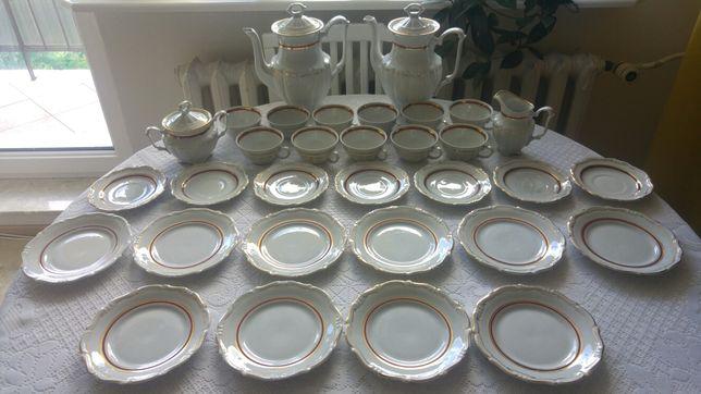 Serwis kawowy porcelana Wałbrzych filiżanki dzbanki talerzyki kolekcja