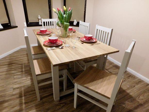 Stół do jadalni, retro, drewniany, styl angielski