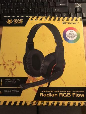 Słuchawki Tracer Radian RGB Flow z mikrofonem