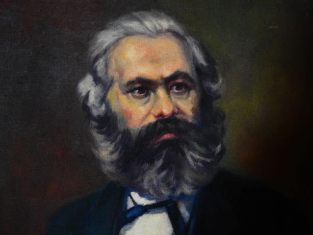 Retrato a óleo de Karl Marx