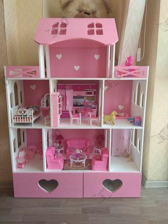 АКЦИЯ! Большой кукольный домик Барби ЛОЛ мебель
