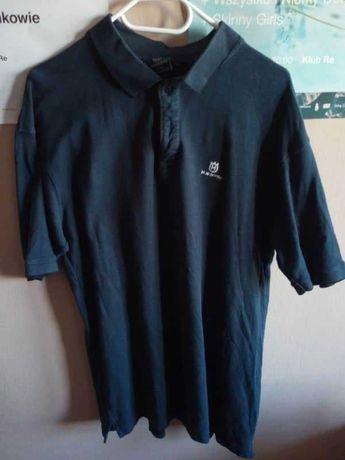 Granatowa koszulka polo Husqvarna