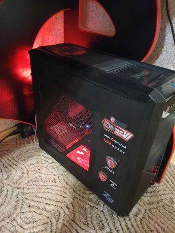 Игровой компьютер в сборе. Системный блок + Монитор. Обмен на ноутбук.