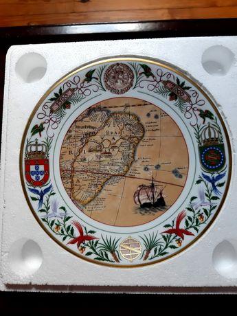 Prato comemorativo da descoberta do Brasil das coleções Philae