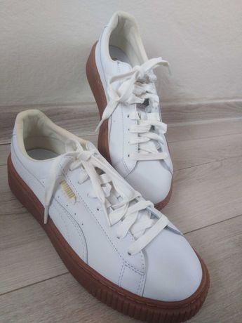 PUMA BASKET, białe buty na platformie Nowe!