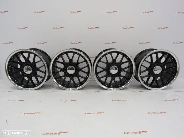 Jantes Look BBS RS2 17 x 7.5 et30 4x100 Pretas e polidas