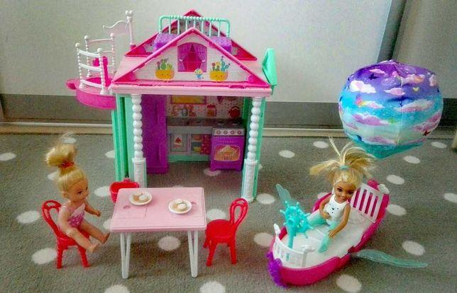 Zestaw Chelsae wakacyjny domek magiczna łódka lalki
