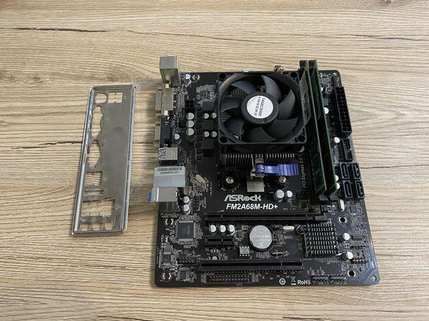 Комплект AsRock FM2A68M-HD+ + AMD Athlon X4 860K + 16gb DDR3