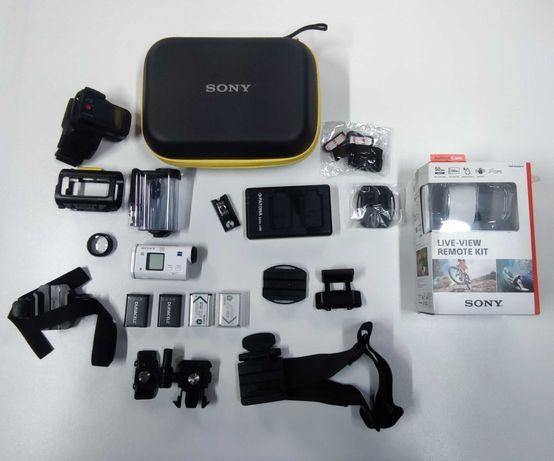 Kamerka sportowa SONY HDR-AS200V - dużo dodatków .