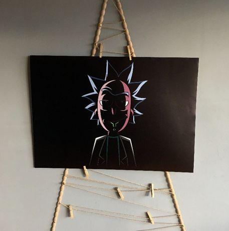Plakat Rick i Morty oraz inne / A1 (80cm x 60cm) / W antyramie lub bez