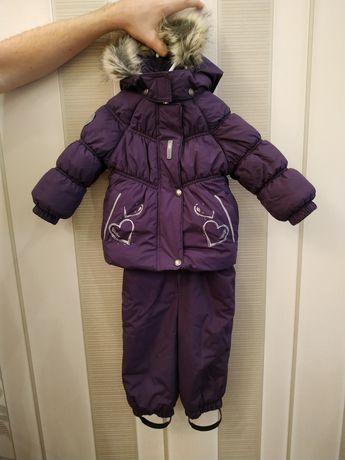 Зимний раздельный комбинезон Lenne для девочки 1-2 года