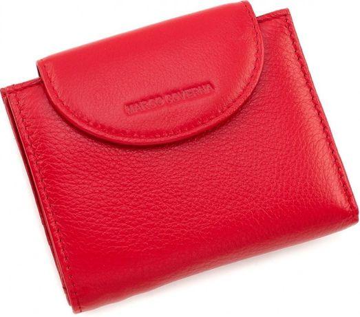 Красный женские кошелек из натуральной кожи на кнопке Marco Coverna