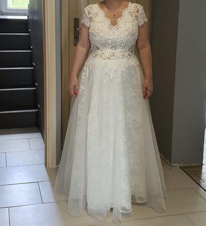 Sprzedam suknię ślubną rozm. ok. 44 ciążowa