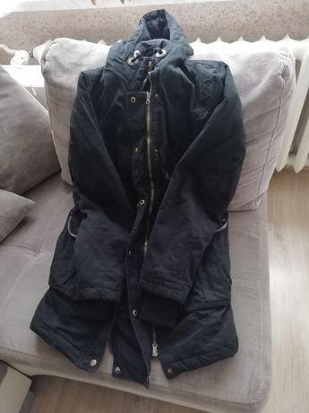 Zimowa kurtka ciążowa z wkładką dla dziecka
