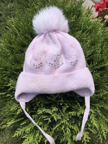 Зимова шапка для новонарождених польської фірми Barbaras зимняя шапка