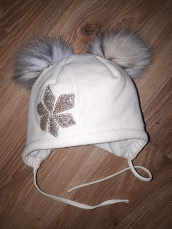 Новая шапка, шапочка зимняя для девочки ог 40 см