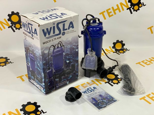 Насос фекальный Wisla WQCD 2.75 KW для канализации с ножом дробилкой