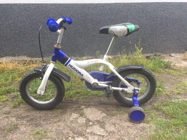 Rowerek Hudora 12` z bocznymi kolkami
