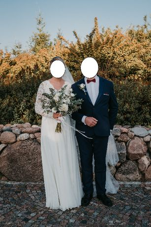 Suknia ślubna w stylu boho, rustic rozm. M