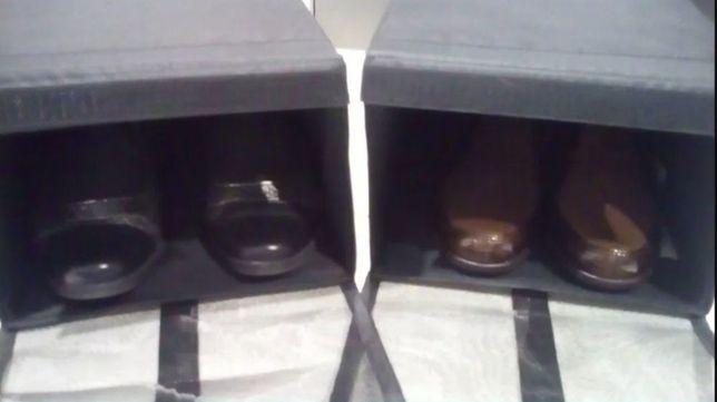 Caixas muito práticas para arrumação do calçado dos seus filhotes