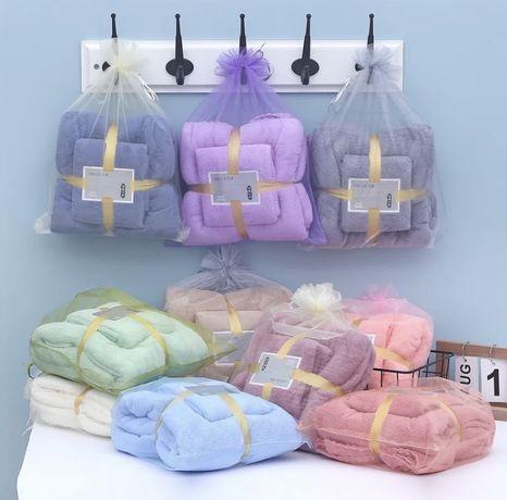 Набор полотенец микрофибра рушник на подарунок баня и лицо
