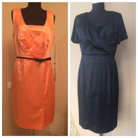 Новое нарядное платье, супер оранжевое и черное St.Oliver.