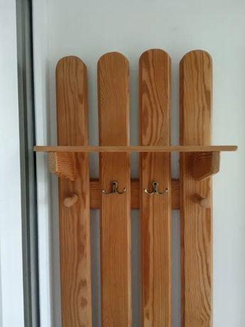 Wieszak na ubranie +wieszak na klucze- drewno