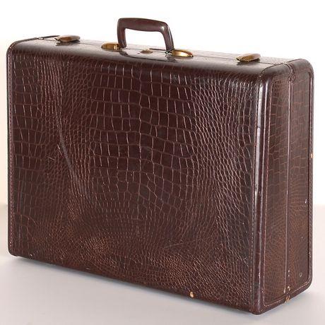 Vintage Samsonite Faux Leather ALLIGATOR / CROCODILE