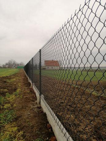 Ogrodzenie z siatki ogrodzenia antracyt grafit podmurówka panele