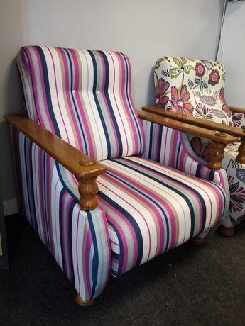 Fotel po renowacji tapicerskiej.