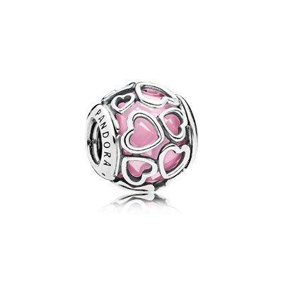Распродажа склада Pandora из США. Пандора Шарм Ажурные сердца розовый